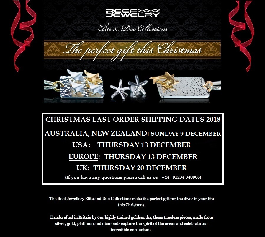 Last Order Dates for Christmas Delivery 2018
