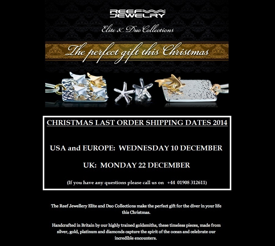 Christmas Latest Order Dates